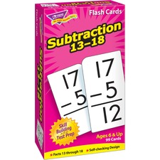 TEP 53104 Trend Subtraction 13-18 Flash Cards TEP53104
