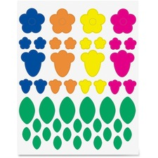 HYX 18401 Hygloss Prod. Floral Shapes Stickers HYX18401