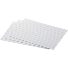 OXF 63525 Oxford Front/Back Ruled Index Cards OXF63525