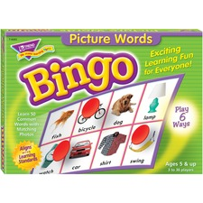 TEP 6063 Trend Picture Words Bingo Game TEP6063