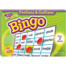 TEP 6140 Trend Prefixes and Suffixes Bingo Game TEP6140