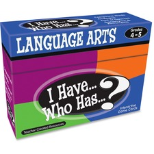 TCR 7831 Teacher Created Res. 4&5 I Have Language Arts Game TCR7831