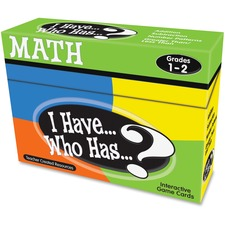 TCR 7817 Teacher Created Res. 1&2 I Have Who Has Math Game TCR7817