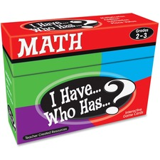 TCR 7818 Teacher Created Res. 2&3 I Have Who Has Math Game TCR7818