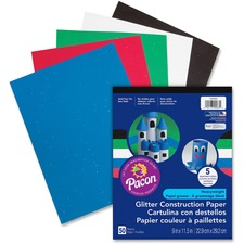 PAC 1000083 Pacon Glitter Construction Paper Pad PAC1000083