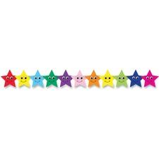 HYX 33655 Hygloss Prod. Colorful Happy Stars Border Strips HYX33655