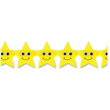 HYX 33653 Hygloss Prod. Happy Yellow Stars Border Strips HYX33653