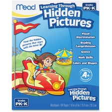 MEA 48016 Mead PK-K Learning Through Hidden Pictures Workbk MEA48016