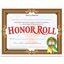 FLP VA612 Flipside Prod. Honor Roll Certificate FLPVA612