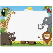 Geographics Animal Theme Border Certificates