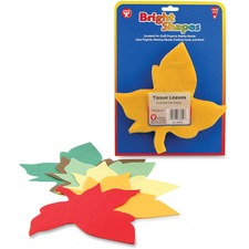 HYX 88559 Hygloss Prod. Bright Shapes Color Tissue Leaves HYX88559