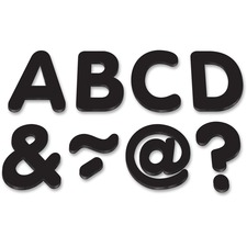 """TCR 77188 Teacher Created Res. Black 2"""" Magnetic Letters TCR77188"""