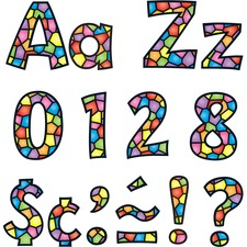 "TEP 79751 Trend Stained Glass Design 4"" Ready Letters Pack TEP79751"