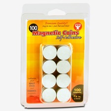 Hygloss Self-Adhesive Magnetic Coins