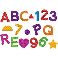 LRN 7724 Learning Res. Magnetic Numbers Letters/Shapes Set LRN7724