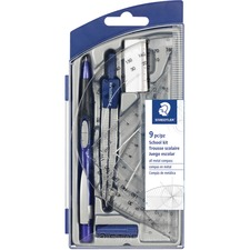 STD 55060S9A6 Staedtler 9-piece Math Set STD55060S9A6