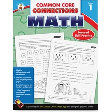 Carson-Dellosa Common Core Connections Gr 1 Math Workbook Education Printed Book for Mathematics