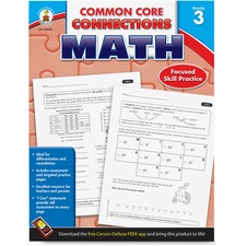 CDP 104604 Carson Common Core Connections Gr 3 Math Workbook CDP104604