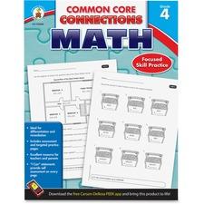 Carson-Dellosa Common Core Connections Gr 4 Math Workbook Education Printed Book for Mathematics