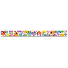 CDP 108176 Carson Colorful Owls Straight Borders CDP108176