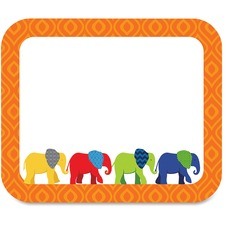 CDP 150045 Carson Parade of Elephants Colorful Name Tags CDP150045