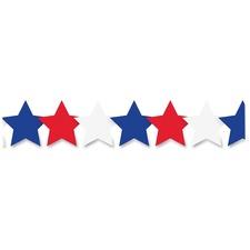 HYX 33654 Hygloss Prod. Patriotic Stars Border Strips HYX33654