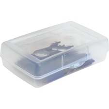 SPR 23810 Sparco Clear Plastic Pencil Box SPR23810