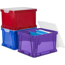 STX 62012U03C Storex Ind. 3 Piece Cube Storage Bins STX62012U03C