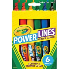 CYO 588195 Crayola Power Lines 6-color Project Markers CYO588195
