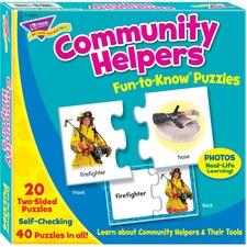 TEP 36011 Trend Community Helpers Alphabet Puzzle Set TEP36011
