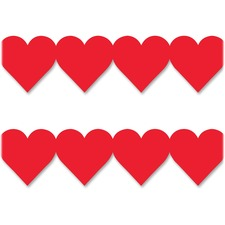 HYX 33625 Hygloss Prod. Red Heart Globe Design Border Strips HYX33625