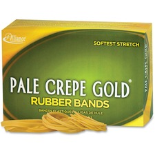 ALL20545 - Alliance Rubber 20545 Pale Crepe Gold Rubber Bands - Size #54