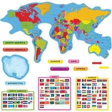 TEP 8259 Trend Continents & Countries Bulletin Board Set TEP8259
