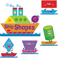 TEP 8270 Trend Ship Shapes/Colors Bulletin Board Set TEP8270