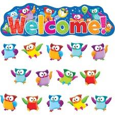 TEP8367 - Trend Owl-Stars! Welcom Bulletin Board Set
