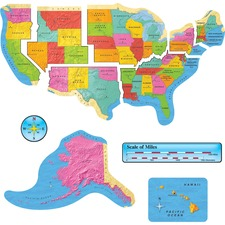 TEP 8160 Trend US Map Bulletin Board Set TEP8160