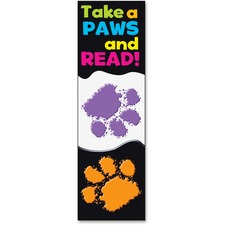 TEP 12034 Trend Take-a-Paws and Read Bookmark TEP12034