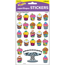 TEP 46327 Trend Colored Cupcake Bakeshop Stickers TEP46327