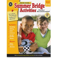 CDP 704699 Carson Gr 3-4 Summer Bridge Activities Workbook CDP704699