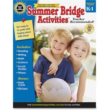 CDP 704696 Carson Gr K-1 Summer Bridge Activities Workbook CDP704696