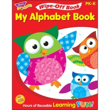 TEP 94117 Trend My Alphabet Owl-Stars! Wipe-off Book TEP94117