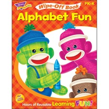 TEP 94118 Trend Alphabet Fun Sock Monkeys Book TEP94118
