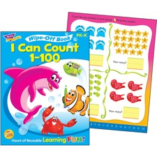 TEP 94223 Trend I Can Count 1-100 Wipe-off Book TEP94223