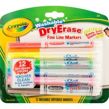 CYO 985912 Crayola Washable Dry Erase Fine Line Markers CYO985912