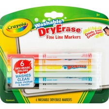 CYO 985906 Crayola Washable Dry Erase Fine Line Markers CYO985906