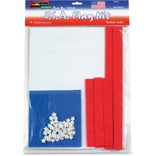 CKC 4342 Chenille Kraft WonderFoam Peel/Stick USA Flag Kit CKC4342