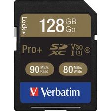 VER 49198 Verbatim Pro Plus 600X SDXC Memory Card VER49198