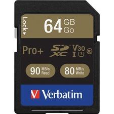 VER 49197 Verbatim Pro Plus 600X SDXC Memory Card VER49197