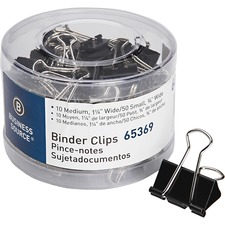 BSN 65369 Bus. Source Small/Medium Binder Clips Set BSN65369