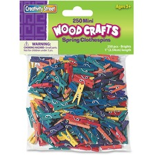 CKC 367202 Chenille Kraft WoodCrafts Bright Mini Clothespins CKC367202